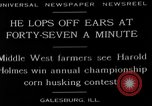 Image of corn husking contest Galesburg Illinois USA, 1929, second 6 stock footage video 65675054943