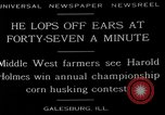 Image of corn husking contest Galesburg Illinois USA, 1929, second 7 stock footage video 65675054943