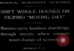 Image of shift whole houses Manila Philippines, 1949, second 1 stock footage video 65675054944