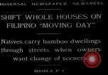 Image of shift whole houses Manila Philippines, 1949, second 5 stock footage video 65675054944
