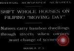 Image of shift whole houses Manila Philippines, 1949, second 6 stock footage video 65675054944