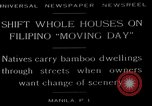 Image of shift whole houses Manila Philippines, 1949, second 7 stock footage video 65675054944