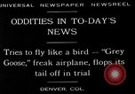Image of freak aircraft fails in trial Denver Colorado USA, 1929, second 1 stock footage video 65675054945