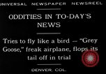 Image of freak aircraft fails in trial Denver Colorado USA, 1929, second 6 stock footage video 65675054945