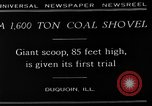 Image of giant coal shovel Duquoin Illinois USA, 1929, second 1 stock footage video 65675054946
