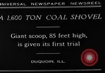 Image of giant coal shovel Duquoin Illinois USA, 1929, second 7 stock footage video 65675054946