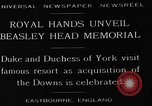 Image of Beasley Head Memorial Eastbourne England, 1929, second 1 stock footage video 65675054948