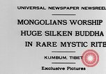 Image of Mongolians worship Buddha Kumbum Tibet, 1930, second 2 stock footage video 65675054959