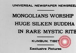 Image of Mongolians worship Buddha Kumbum Tibet, 1930, second 3 stock footage video 65675054959