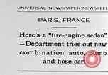 Image of fire engine sedan Paris France, 1930, second 1 stock footage video 65675054960