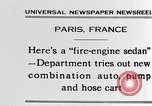 Image of fire engine sedan Paris France, 1930, second 2 stock footage video 65675054960