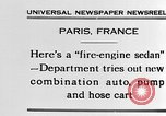 Image of fire engine sedan Paris France, 1930, second 4 stock footage video 65675054960