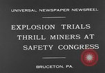 Image of dynamite explosion trials Bruceton Pennsylvania USA, 1930, second 1 stock footage video 65675054964
