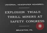 Image of dynamite explosion trials Bruceton Pennsylvania USA, 1930, second 2 stock footage video 65675054964