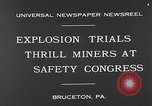 Image of dynamite explosion trials Bruceton Pennsylvania USA, 1930, second 3 stock footage video 65675054964