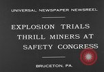 Image of dynamite explosion trials Bruceton Pennsylvania USA, 1930, second 4 stock footage video 65675054964