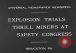 Image of dynamite explosion trials Bruceton Pennsylvania USA, 1930, second 6 stock footage video 65675054964