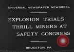 Image of dynamite explosion trials Bruceton Pennsylvania USA, 1930, second 7 stock footage video 65675054964