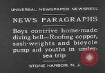 Image of home-made diving bell New Jersey United States USA, 1930, second 3 stock footage video 65675054966
