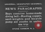 Image of home-made diving bell New Jersey United States USA, 1930, second 5 stock footage video 65675054966