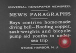 Image of home-made diving bell New Jersey United States USA, 1930, second 7 stock footage video 65675054966