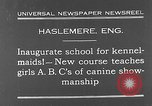 Image of school for kennel-maids Haslemere England, 1930, second 1 stock footage video 65675054967