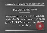 Image of school for kennel-maids Haslemere England, 1930, second 2 stock footage video 65675054967