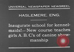 Image of school for kennel-maids Haslemere England, 1930, second 3 stock footage video 65675054967