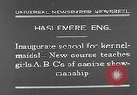 Image of school for kennel-maids Haslemere England, 1930, second 5 stock footage video 65675054967