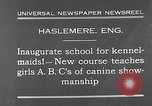 Image of school for kennel-maids Haslemere England, 1930, second 6 stock footage video 65675054967