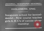 Image of school for kennel-maids Haslemere England, 1930, second 7 stock footage video 65675054967