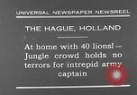 Image of lions The Hague Netherlands, 1930, second 2 stock footage video 65675054969