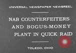 Image of bogus-money plant Toledo Ohio USA, 1930, second 2 stock footage video 65675054970
