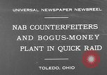 Image of bogus-money plant Toledo Ohio USA, 1930, second 3 stock footage video 65675054970