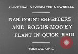 Image of bogus-money plant Toledo Ohio USA, 1930, second 4 stock footage video 65675054970