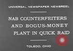 Image of bogus-money plant Toledo Ohio USA, 1930, second 6 stock footage video 65675054970