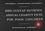 Image of annual charity fete for poor in Sweden Stockholm Sweden, 1930, second 2 stock footage video 65675054971
