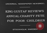 Image of annual charity fete for poor in Sweden Stockholm Sweden, 1930, second 3 stock footage video 65675054971