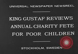 Image of annual charity fete for poor in Sweden Stockholm Sweden, 1930, second 6 stock footage video 65675054971