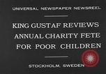 Image of annual charity fete for poor in Sweden Stockholm Sweden, 1930, second 7 stock footage video 65675054971