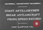 Image of antiaircraft guns Fort MacArthur California, 1930, second 1 stock footage video 65675054973