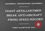 Image of antiaircraft guns Fort MacArthur California USA, 1930, second 2 stock footage video 65675054973