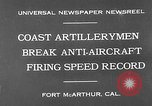 Image of antiaircraft guns Fort MacArthur California, 1930, second 3 stock footage video 65675054973