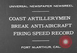 Image of antiaircraft guns Fort MacArthur California, 1930, second 4 stock footage video 65675054973