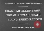 Image of antiaircraft guns Fort MacArthur California, 1930, second 6 stock footage video 65675054973