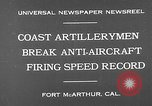 Image of antiaircraft guns Fort MacArthur California, 1930, second 7 stock footage video 65675054973
