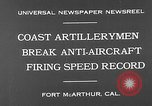 Image of antiaircraft guns Fort MacArthur California, 1930, second 8 stock footage video 65675054973