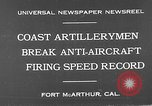 Image of antiaircraft guns Fort MacArthur California, 1930, second 10 stock footage video 65675054973