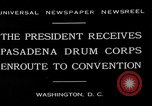 Image of Pasadena Drum Corps Washington DC USA, 1930, second 7 stock footage video 65675054974