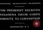 Image of Pasadena Drum Corps Washington DC USA, 1930, second 11 stock footage video 65675054974